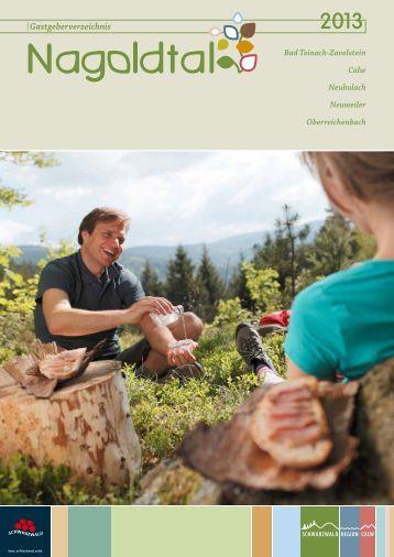 Gastgeberverzeichnis Teinachtal mit Calw und Oberreichenbach