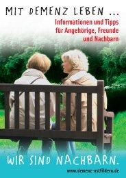 Download Broschüre zum Thema Demenz - Demenzkampagne ...
