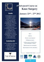 Program 2012 - 4th Advanced Course on Knee Surgery