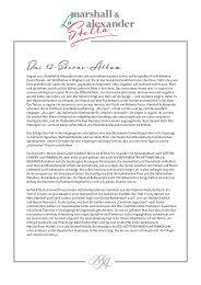 pressetext download - La Stella - Marshall & Alexander