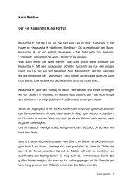 Karin Seidner Der Fall Kassandra H. als Porträt