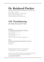 1. В. 5. - Dr. Reinhard Fischer Briefmarken Auktions