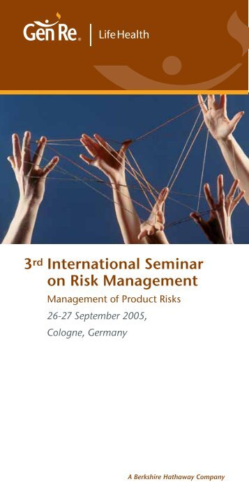 3rd International Seminar on Risk Management - Gen Re