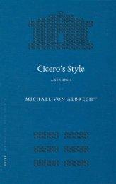Cicero's Style