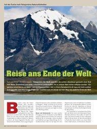 Reise ans Ende der Welt - Globetrotter-Magazin