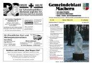 Amtsblatt Nr. 183 Februar 2010 - Gemeinde Machern