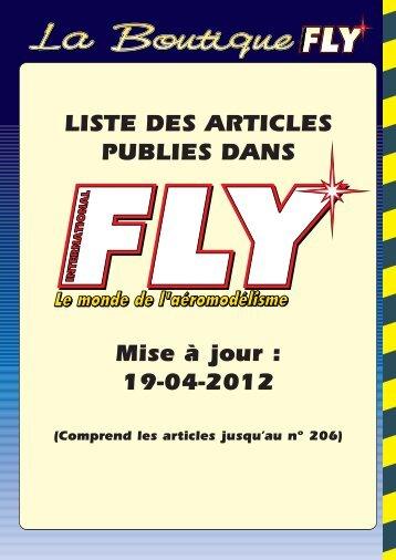 INDEX DES ARTICLES FLY AU 19-04-2012 - Fly International.fr, le ...