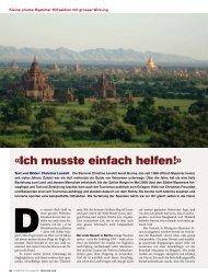 Reisebericht von Christine Landolt im Globetrotter-Magazin Frühling
