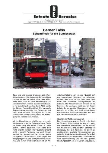 Berner Taxis - Entente bernoise