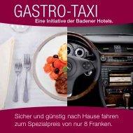 gastro-tax gastro-taxi gastro-taxi o-taxi - Hotel Linde - Baden