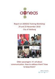 Report on AENEAS Training Workshop 24 and 25 November 2010 ...