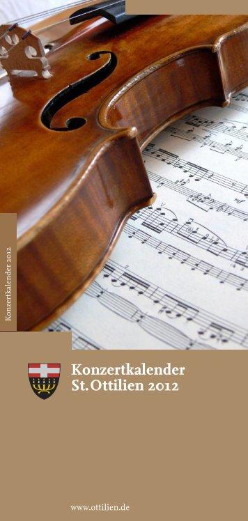 Konzertkalender St. Ottilien 2012 - Sandtner Orgelbau