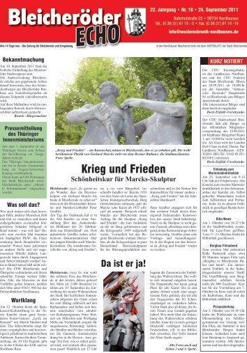 Krieg und Frieden - Nordhäuser Wochenchronik