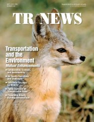Transportation and the Environment - Transportation Research Board