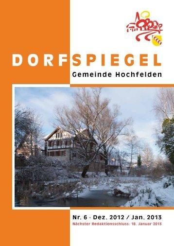 6 Dezember/Januar - Gemeinde Hochfelden
