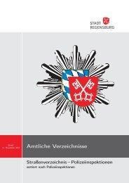Amtliche Verzeichnisse - Statistik - Stadt Regensburg