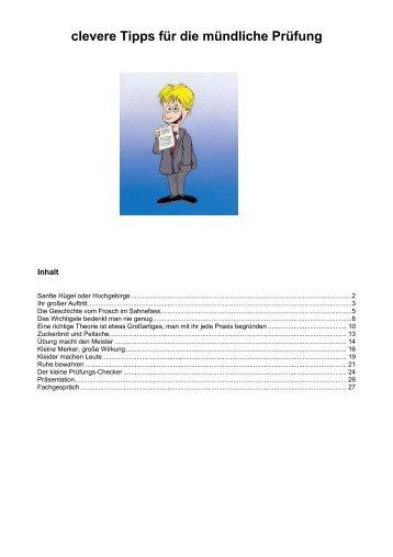 mündliche Prüfung - EDV Schulung