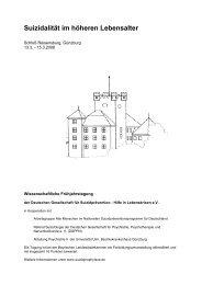 Suizidalität im höheren Lebensalter - Deutsche Gesellschaft für ...