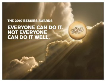 EVERYONE CAN DO IT. - The Bessies