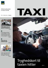 Tryghedskort til taxien hitter - Dansk Taxi Råd