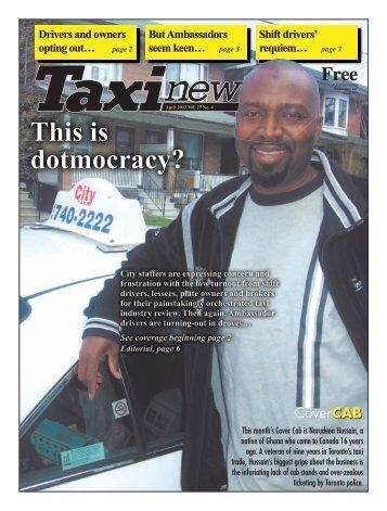 April 2012 - Taxi News