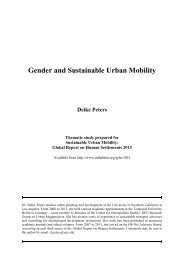 Gender and Sustainable Urban Mobility Deike Peters - City of Toronto