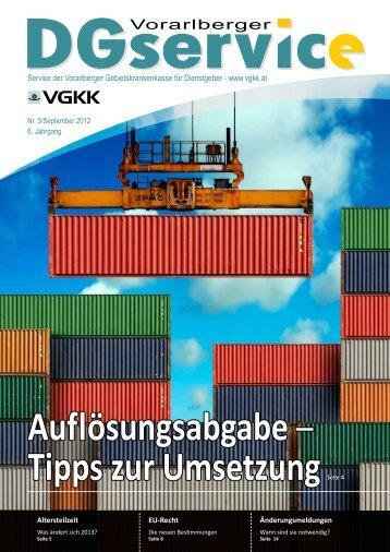 """""""DGservice"""" Nr. 3/2011 - Vorarlberger Gebietskrankenkasse"""