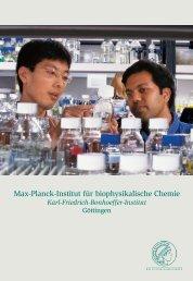broschuere_2002 (Teil A) - Max-Planck-Institut für biophysikalische ...