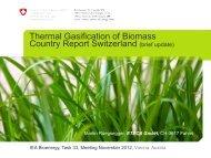 Switzerland - IEA BioEnergy Agreement Task 33