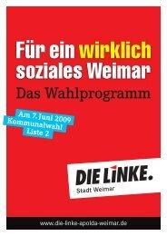 Für ein wirklich - DIE LINKE. Apolda-Weimar
