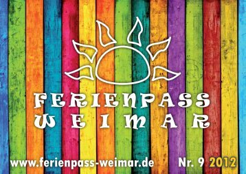 Ferienpassheft 2012 - Ferienpass Weimar