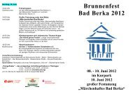 Programm - Kurstadt Bad Berka