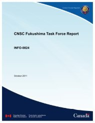 CNSC Fukushima Task Force Report - OECD Nuclear Energy Agency