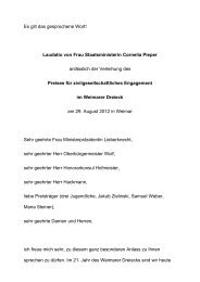 Rede von Cornelia Pieper - Stadt Weimar