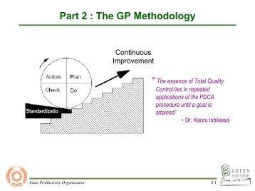 Part 2 : GP Methodology - Asian Productivity Organization