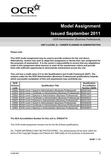 Ocr unit 22 level 3 teaching