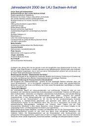 Jahresbericht 2000 der LKJ Sachsen-Anhalt