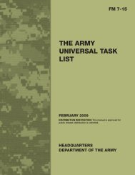 the army universal task list - Army Electronic Publications & Forms ...
