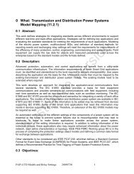 Transmission and Distribution Power Systems Model Mapping