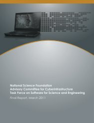 NSF ACCI Task Force Report on Software - National Science ...