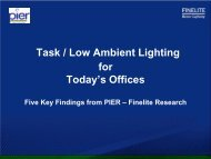 Task / Low Ambient Lighting for Today's Offices -- Five Key ... - EERE