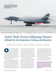Joint Task Force Odyssey Dawn - National Defense University