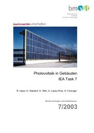 Photovoltaik in Gebäuden IEA Task 7 - NachhaltigWirtschaften.at