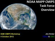 NOAA MAPP CMIP5 Task Force Overview - Index of