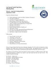 Lee County Transit Task Force Meeting Notes - LeeTran