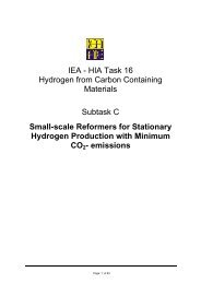 IEA - HIA Task 16 Hydrogen from Carbon Containing Materials ...