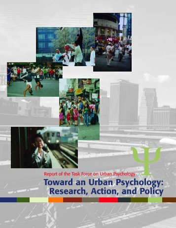 Toward an Urban Psychology - American Psychological Association