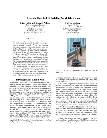 Dynamic User Task Scheduling for Mobile Robots - School of ...