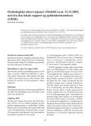 Ornitologiske observasjoner i Østfold t.o.m. 31.12.2003, nytt fra den ...