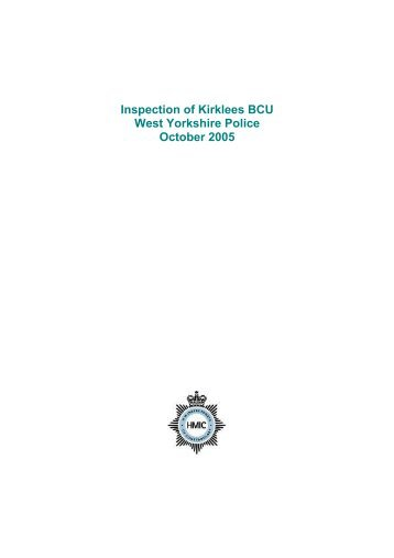 West Yorkshire, Kirklees Basic Command Unit inspection (PDF - HMIC